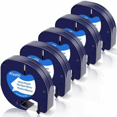 5 pk 91331 91332 91333 91334 91335 Compatible for DYMO Letratag Label Tape 12mm