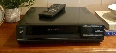 GE VCR VHS Video Player HQ-HI FI Stereo EXCELLENT Fully tested, Remote!
