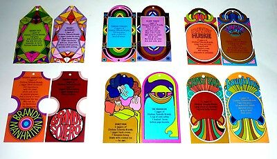 Collectable Brandy Labels -  Set of 12 Chateau Tanunda Brandy Mixer Tags