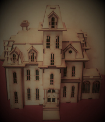 Laser cut ply wood wooden Addams house model psycho 3d puzzle / Kit