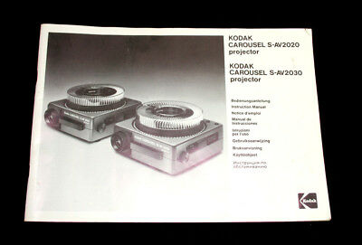 KODAK Carousel S-AV2020 S-AV2030 Projector Instruction User Manual