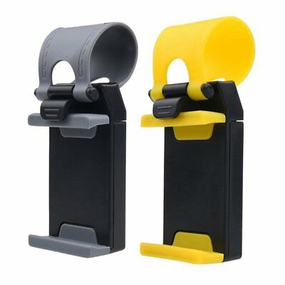 3X(Phone Holder for Car Steering Wheels - Auto Fit - For iPhone Samsung Gal P5P1