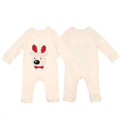 80cm Newborn Infant Baby Boy Girl Kid Elk Printed Romper Jumpsuit Clothes Outfit