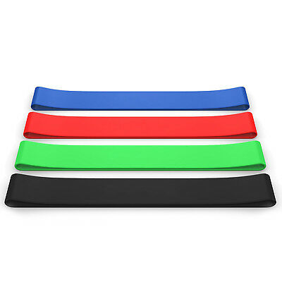 Set of 4 Resistance Loop Exercise Bands 100% Natural Latex for Legs and Butt, AU