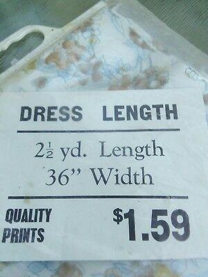 Retro Packaged Dress Length Material Unopened As New
