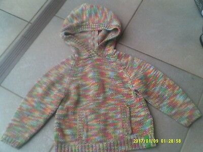 """Girls """"fred Bear"""" Multi Coloured Cotton Jumper  Size:    2"""
