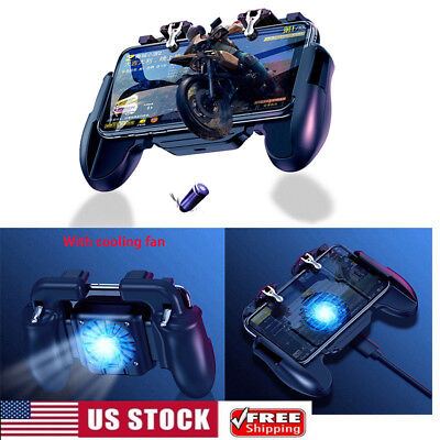 PUBG Mobile Phone Gaming Trigger Shooting Buttons Controller Cooling Fan Gamepad