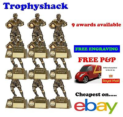 Pinnacle Football Trophy on of the match Player Award a1090 Free ENGRAVING GW