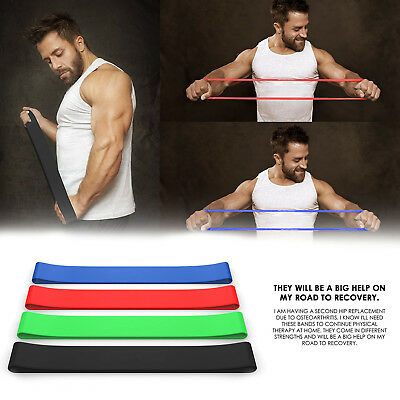Loop Bands Set of 4 For Physical Therapy,Stretch, Elastic,Strength, Home Workout