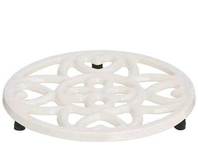 Beautifully Crafted Cream Cast Iron Trivet