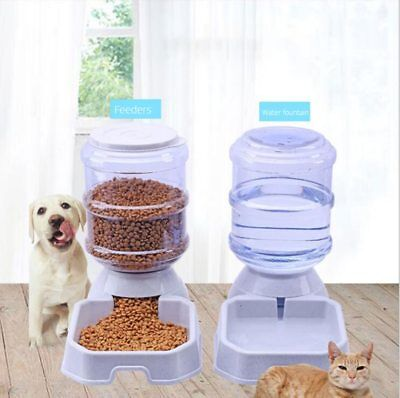3.8L Pet Automatic Feeder Dog/Cat Drinking Bowl DryFood