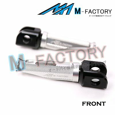 Silver Front Racing Foot Pegs Fit KTM 990 Super Duke / R 05-12