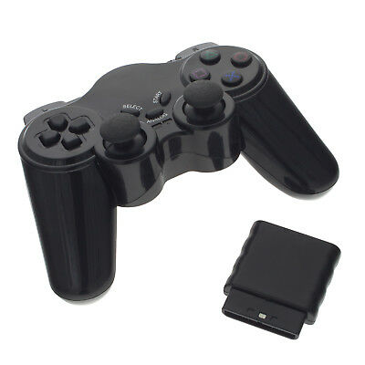 Funk Controller für Playstation 2 PS2 Wireless Gamepad Dual Vibration Funktion