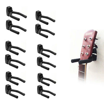 12X  Guitar Hanger Adjustable Wall Mount Display Bracket Hook Holder Bass Stands