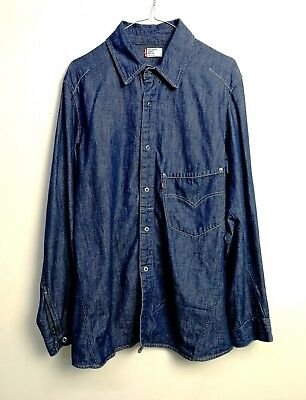 Camicia Jeans Levi's Engeneered 60100 Red Tab Vintage Jeans Shirt Tg.m C309