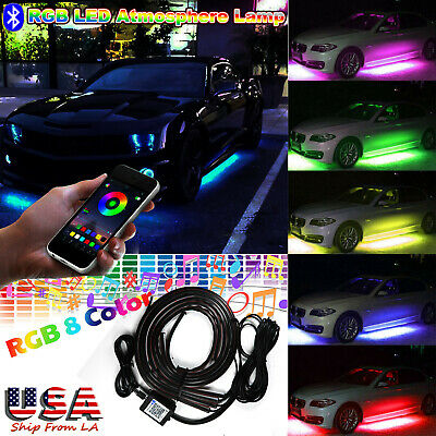 Phone Control RGB LED Car Under Underbody Car Neon Light Chassis Atmosphere Lamp