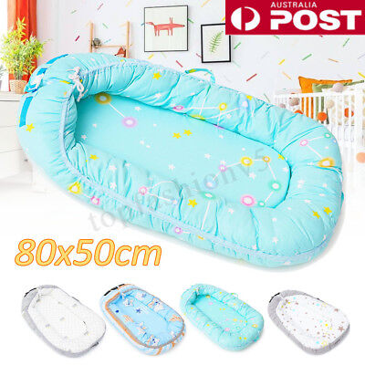 Cotton Baby Nest Portable Toddler Sleeper Cover Removable Crib Cot Bumper Bed