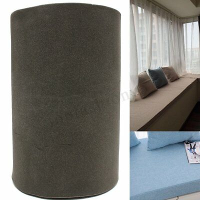 200x60x5cm Black High Density Seat Foam Cushion Sheet Replacement Upholstery