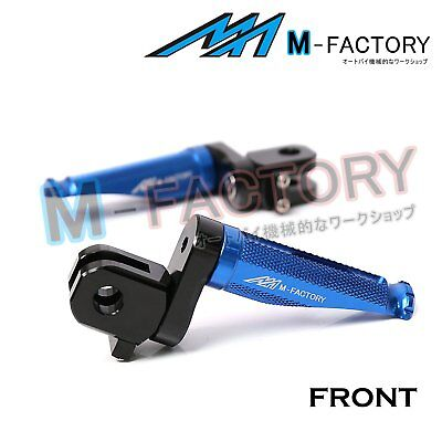 Fit Yamaha YZF R1 R1M 15-19 CNC Blue Adjustable Front Footpegs