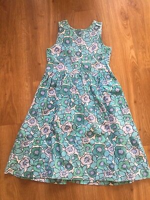 Mini Boden Blue & White Floral Dress Age 9-10 Years