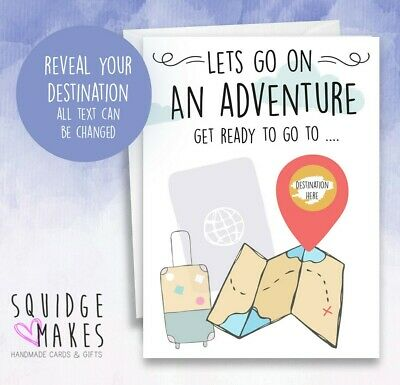 Surprise Vacation Reveal * Surprise Trip Card * going on holiday * scratch off
