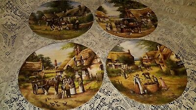 Wedgwood Collectors Plates. Four By Country Days Collection With The Certificate
