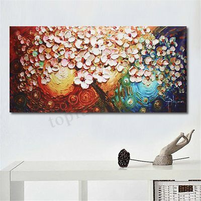 Large Flower Tree Hand-Painted Canvas Abstract Paintings Art Wall Decor