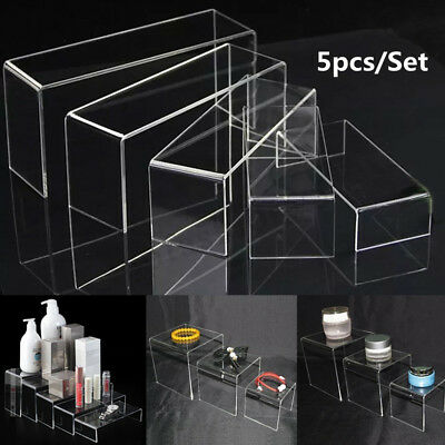 5pcs Super Deal Clear Acrylic Perspex Sturdy Jewellery Display Riser Stand
