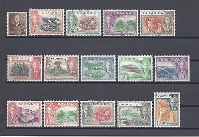 DOMINICA 1951 SG 120/34 USED Cat £95