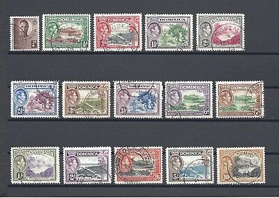 DOMINICA 1938-47 SG 99/109 USED Cat £65