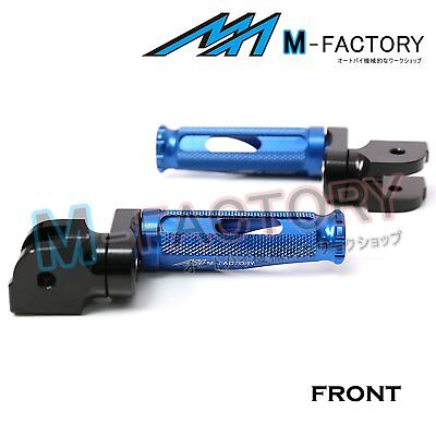 Fit Ducati Monster 1100 /S/EVO 08-14 CNC Blue Adjustable Front Footpegs