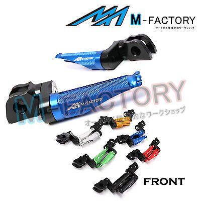 Fit Ducati 1098 S/R/EVO 07-09 CNC Blue Adjustable Front Footpegs