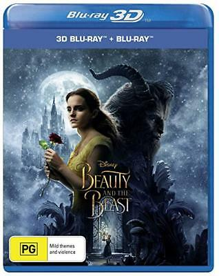Beauty and the Beast (2017) (3D Blu-ray/Blu-ray)  - Region Free [New & Sealed]