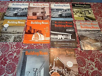 Lot of 12 CANADIAN BUILDING NEWS MAGAZINES 1950- early 1960's
