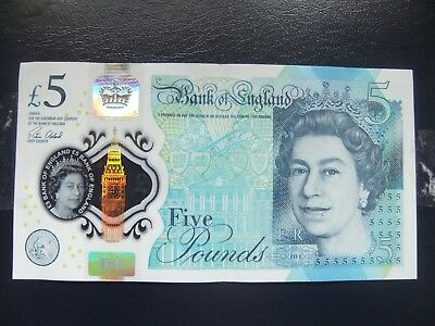 AA01 £5 Five Pound Note Rare Low Number prefix 0