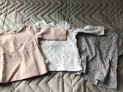 Next Set Of 3 Baby Girl Long Sleeve Tops - Up To 1 Month