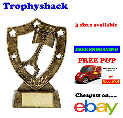 AVAILABLE IN 2 SIZES ** COSMOS ANTIQUE GOLD CYCLING TROPHY *FREE ENGRAVING*