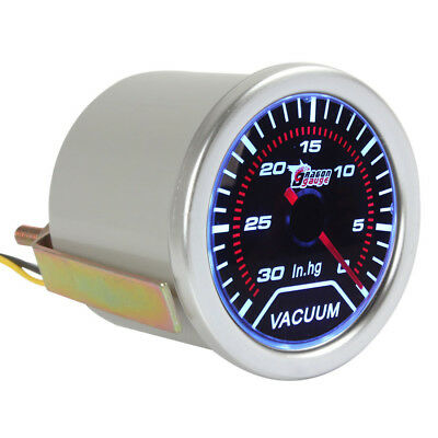 """2"""" 52mm Vacuum Meter Gauge for Auto Car with Led Light Display 0-30 IN.HG 12V"""
