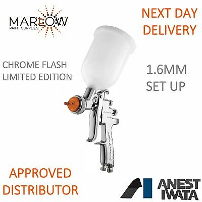 Anest Iwata Az3 Hte-S Impact Chrome Flash Gravity Spray Gun 1.6Mm