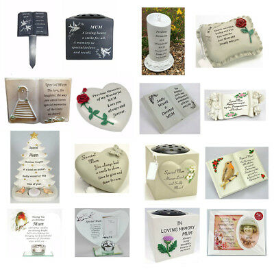 Mum Memorials - Heart Butterfly Wind Chime, Grave Plaque, Memorial Book,Vases