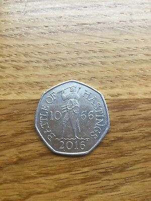 A 2016 50p Coin Remembering The Anniversary Of The Battle Of Hastings