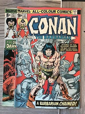 Conan the Barbarian (Vol 1) #45 #57 Marvel Comics BRONZE AGE 1974