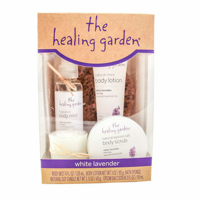 The Healing Garden White Lavender 5 pc Bath & Body Gift Set -MAKES A GREAT GIFT!