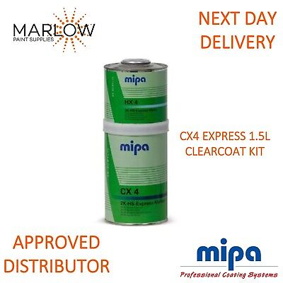 Mipa 2K-Express-Klarlack Cx4 Clearcoat Lacquer With Hx4 Hardener Cx-4 1.5Ltr Kit