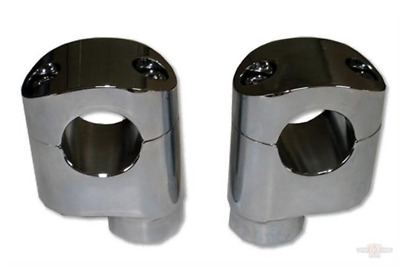 "Custom Chrome 2.25"" Offset Risers, Chrome, Pair For Harley-Davidson 617710"