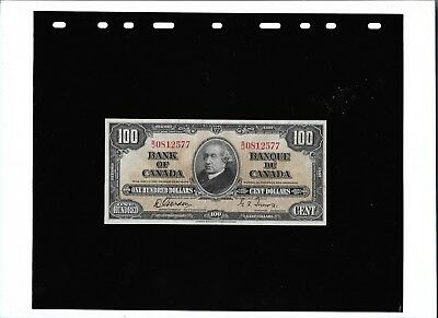 CANADA $100 banknote 1937 (UNC) paper money P#64b Gordon-Towers RARE currency NR