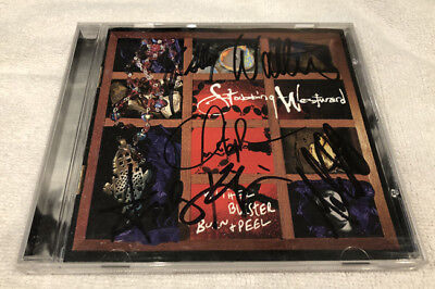 Stabbing Westward Wither Blister Burn and Peel CD Signed 90s Indust Autographed
