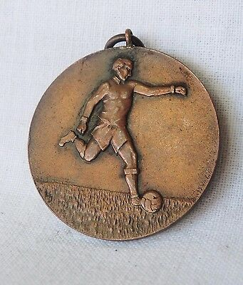 Vintage 1943 Greece Greek Football Veterans Team Bronze Medal PIRAEUS
