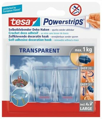 tesa Powerstrips® transparent Deco Haken Large