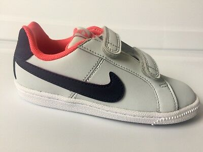 8f531f5d3a71 TODDLERS NIKE COURT Royale Pure Platinum Purple Dynasty-e Girls Sneakers 9c  NEW -  25.00